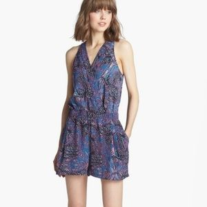Trouve Sleeveless Jacquard Romper
